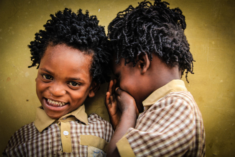 These twin boys' lives have been changed because of the love and care shown to them by Care Workers at Apatuku Community Based Organisation.