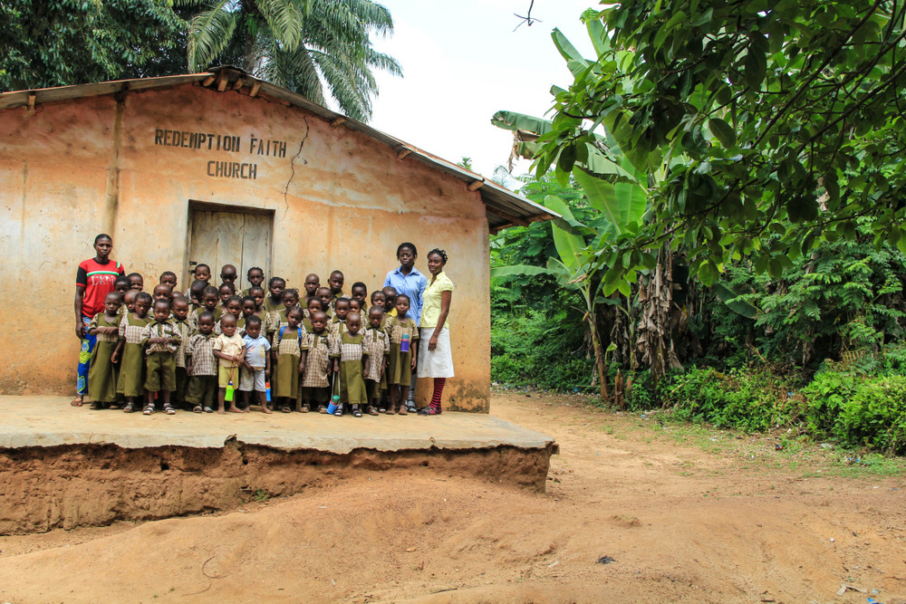 Folarin School, the birthplace of Elekuru Community Based Organisation. This school educates 35 children (nursery to grade 1) who are unable to walk the hour and a half to the main Elekuru Community School.