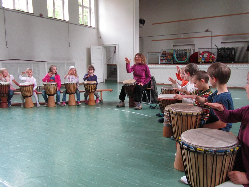 Drumming to the African Beat