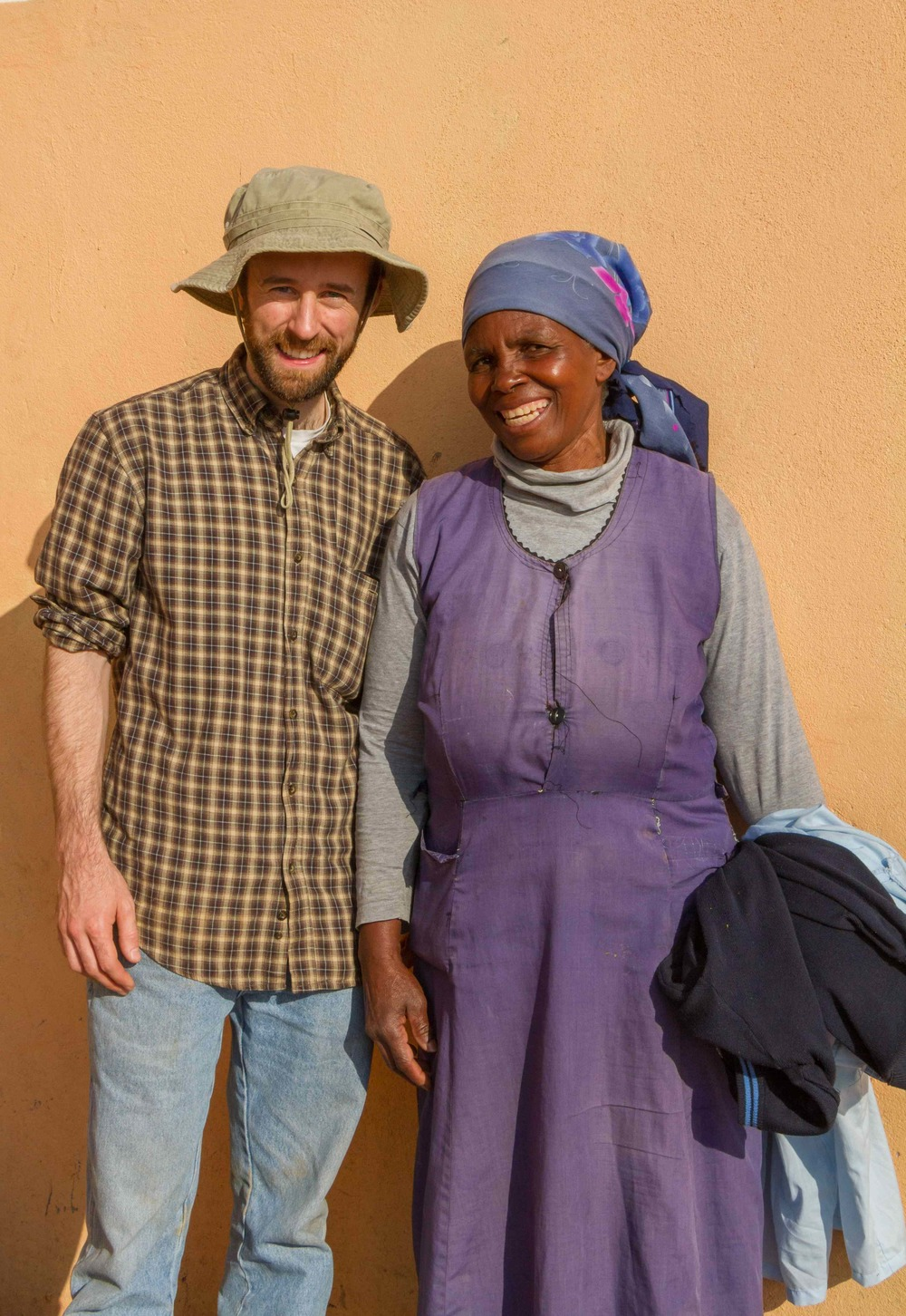 Peter with a local volunteer Care Worker in Swaziland