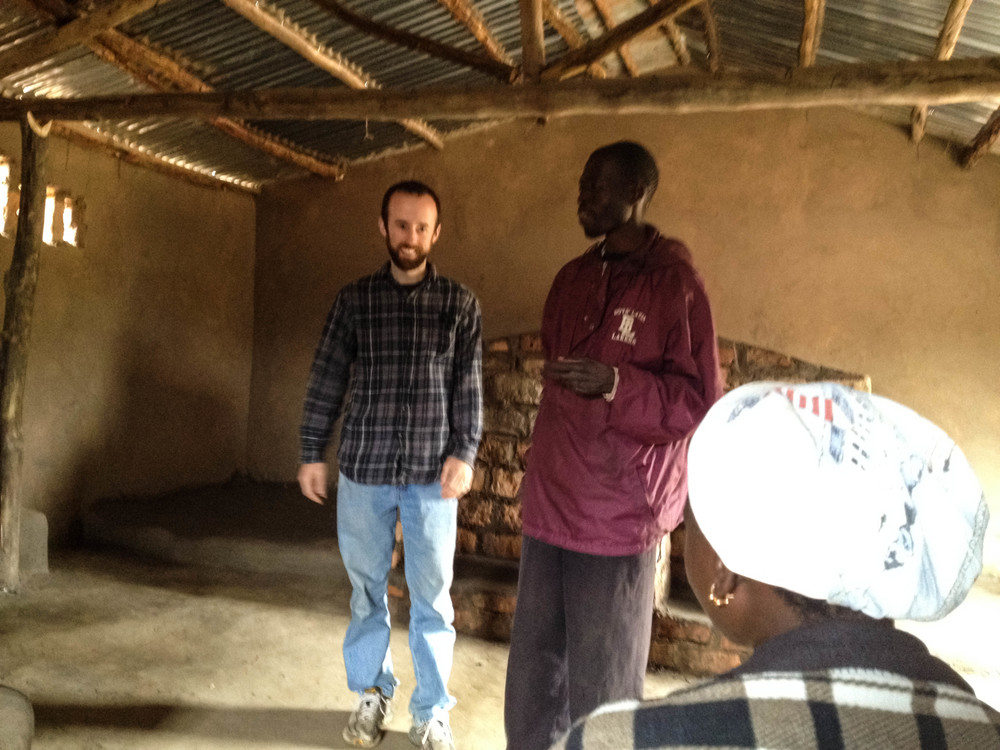 Peter visiting Care Workers in Mozambique