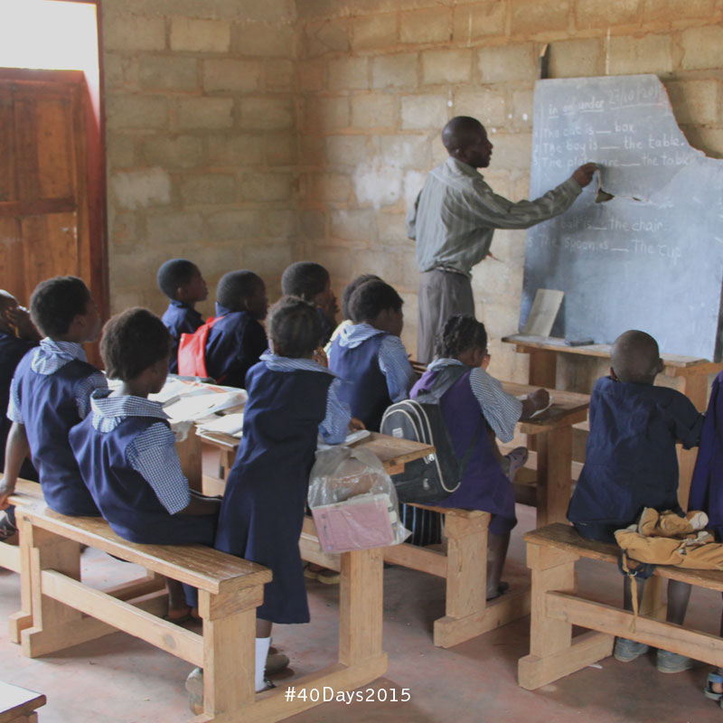 Children learning in Zambia