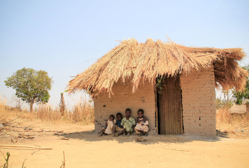 A traditional thatch covered home in Malawi.