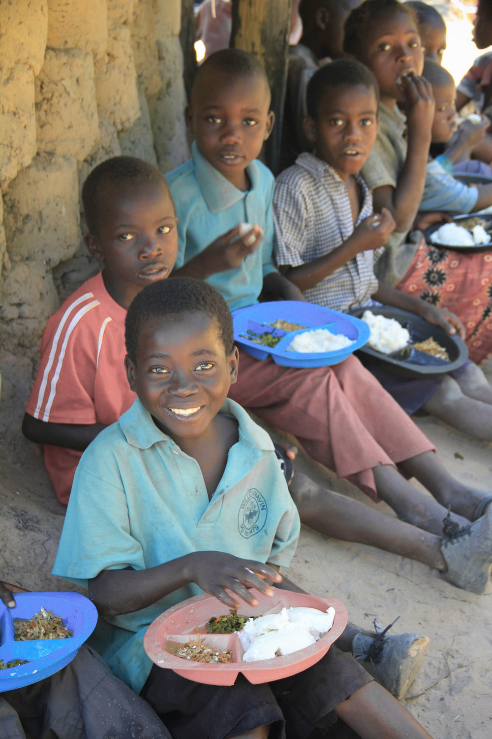 150 of the most vulnerable children in Chibuli receive a daily meal, access to education and access to basic health care.