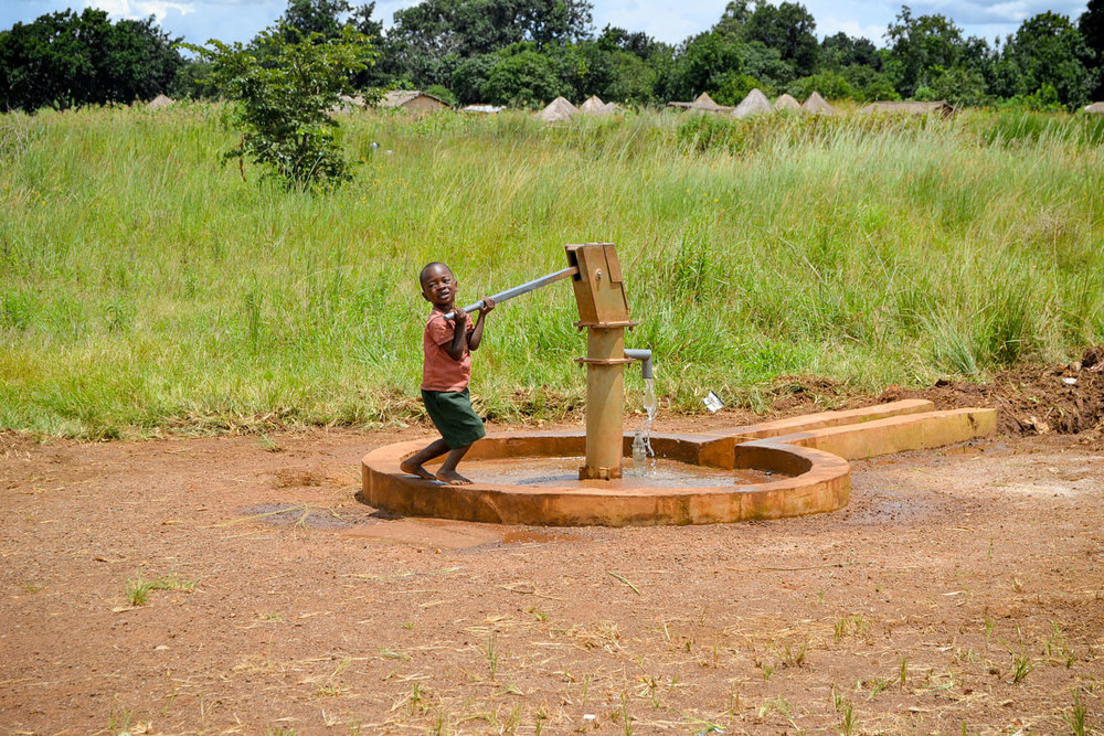 The Care Point has a bore hole which is used for collecting water to cook with and to drink.