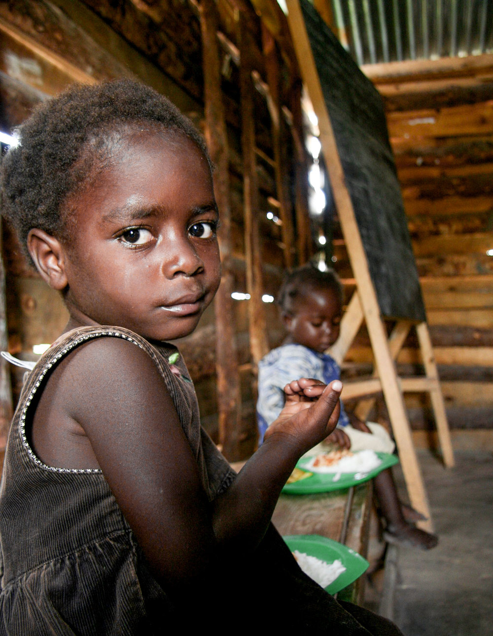 175 of the most vulnerable children in Mulenga receive a daily meal, access to education and access to basic health care.