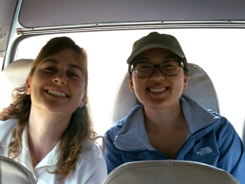 Lauren and fellow team member, Amanda Baumann in Mcheneke.