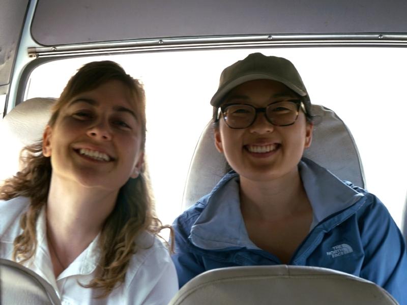Lauren and fellow team member, Amanda Baumann in Mcheneke.