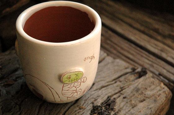 gorgeous zombie mug by Truly