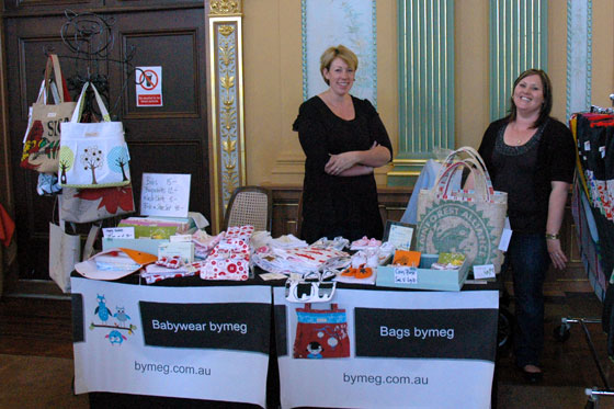 bags and babywear by meg stand at The Square Bendigo Market