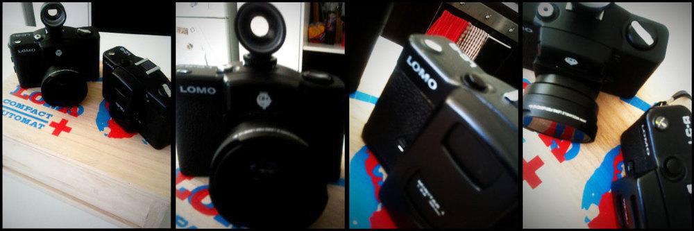 photos of Lomo LC-A and Lomo LC-A+ cameras