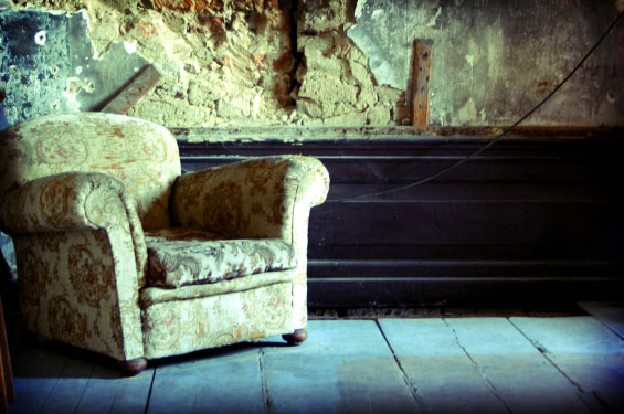 empty chair in an empty room