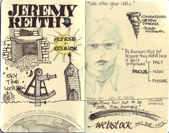 sketchnotes for Jeremy Keith talk at Webstock 2012