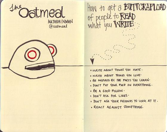 sketchnotes for Mathew Inman talk at Webstock 2012