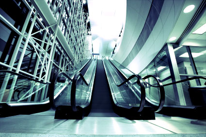 Dallas Fort Worth Airport escalators
