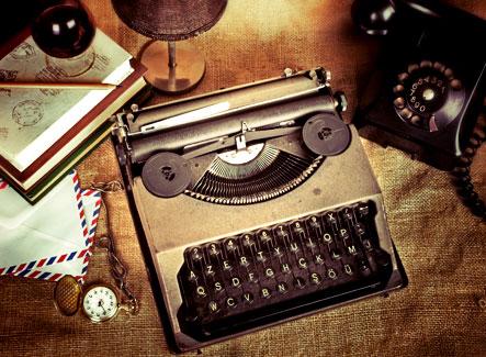 typewriter and telephone