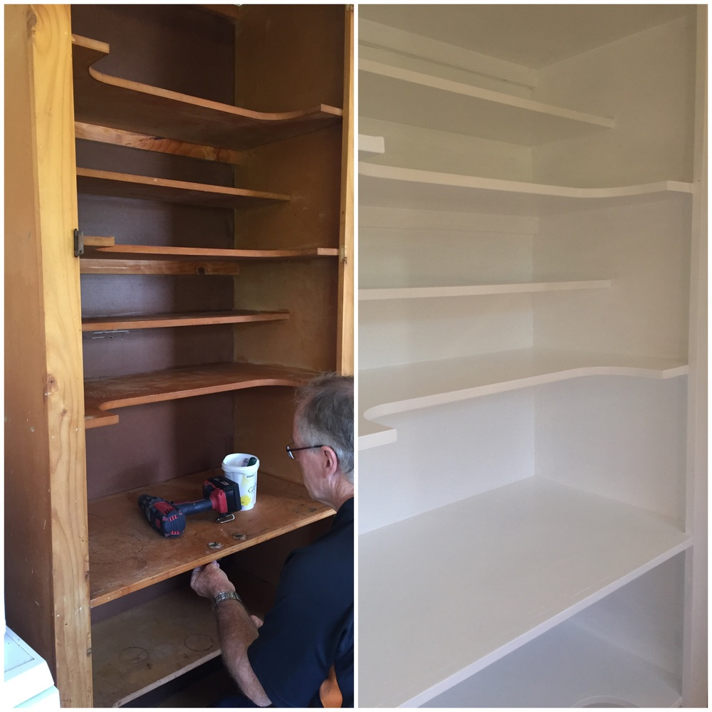 Before and after - pantry improvements
