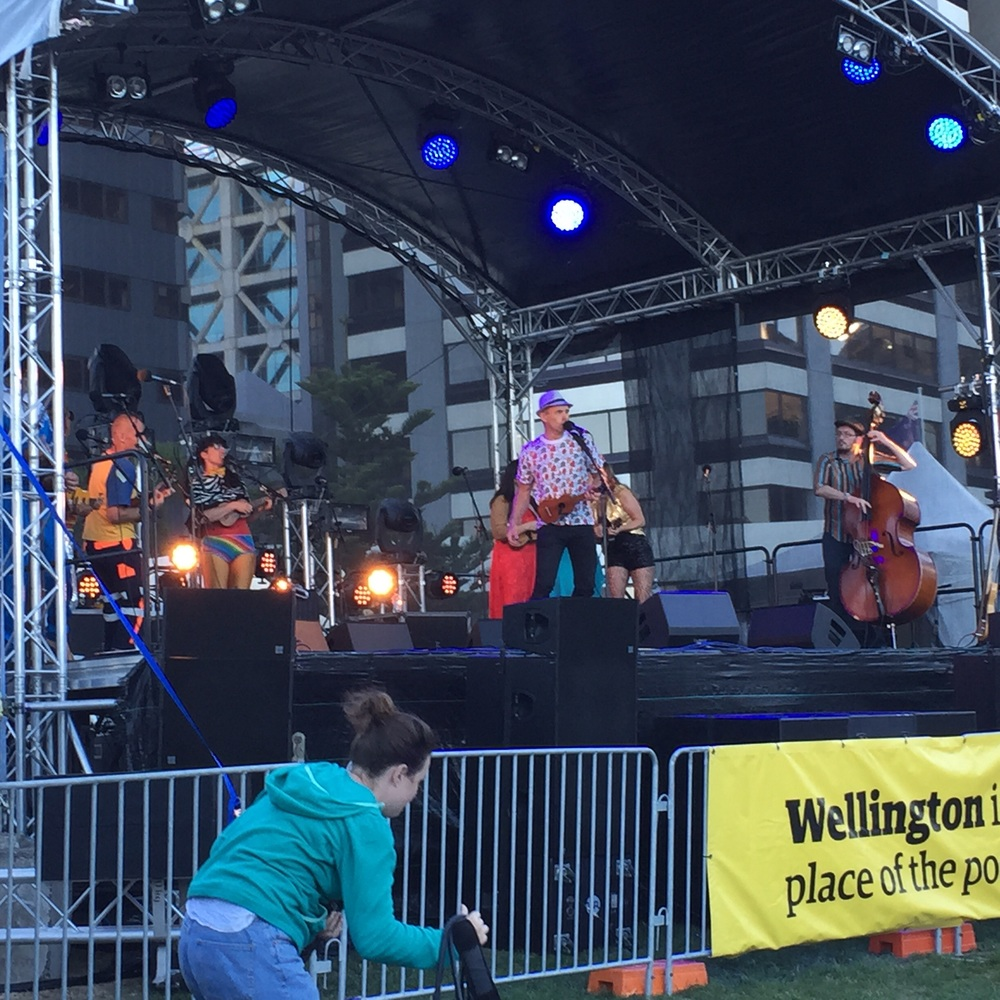 Main act: the one, the only Wellington international ukulele orchestra.
