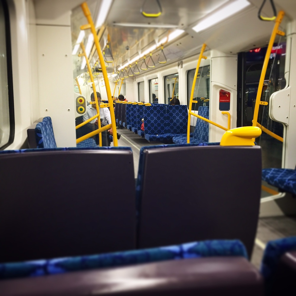 Train gloriously empty on the way home