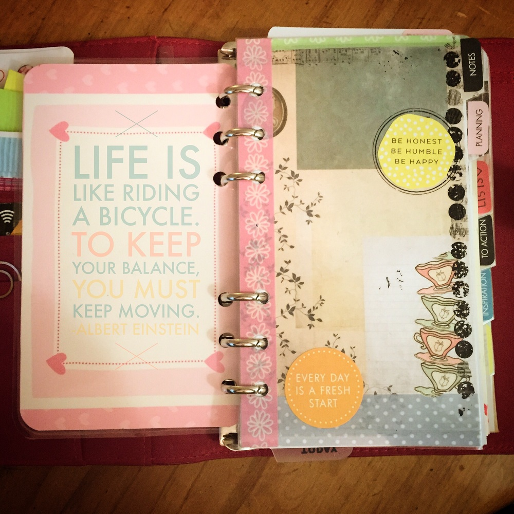 Personalised planner: work in progress.