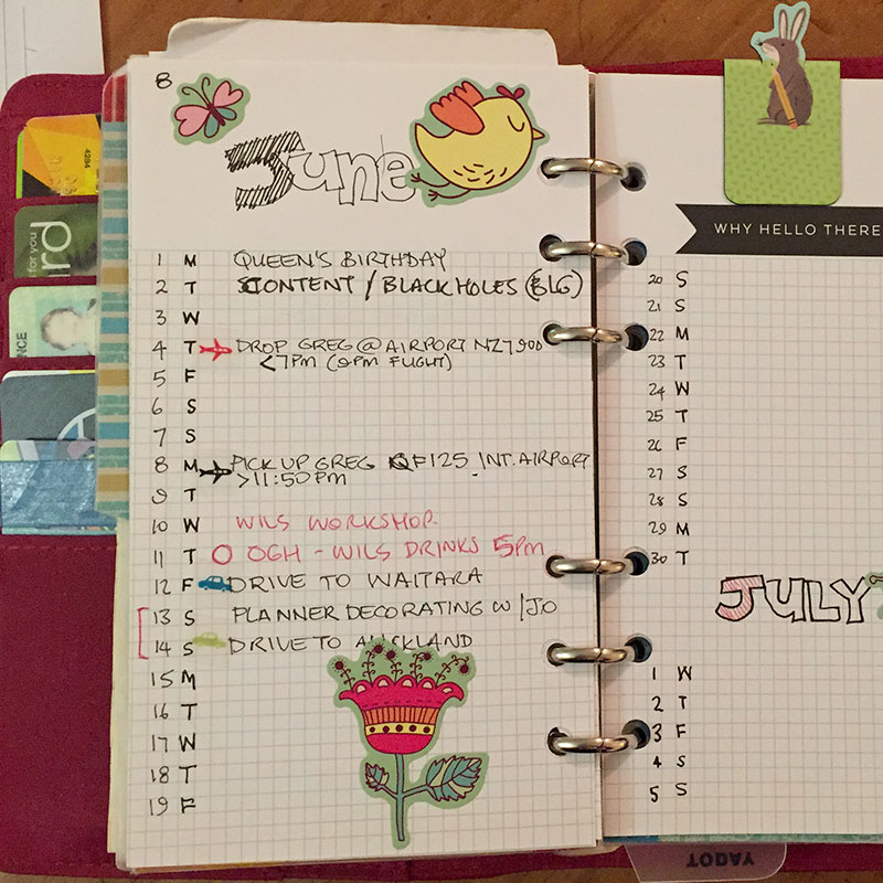 Bullet journalling in my cheap-as-chips Personal Planner