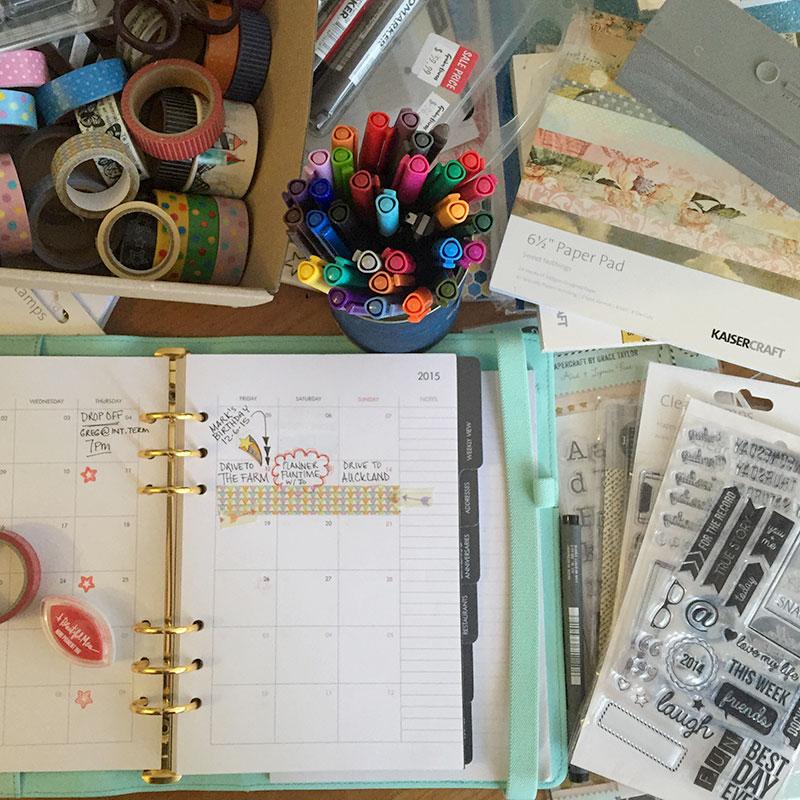 Planning my new A5 Kikki K planner's monthly spread
