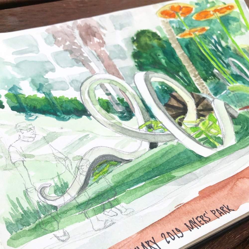 Urban Sketchers January Meetup - Myers Park.