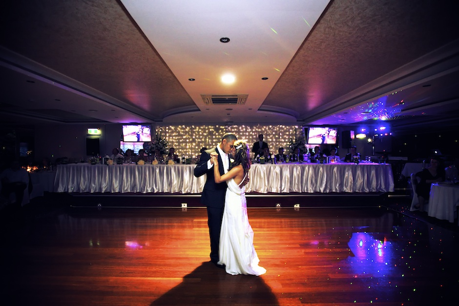 bride and groom's first dance at Grand Roxy