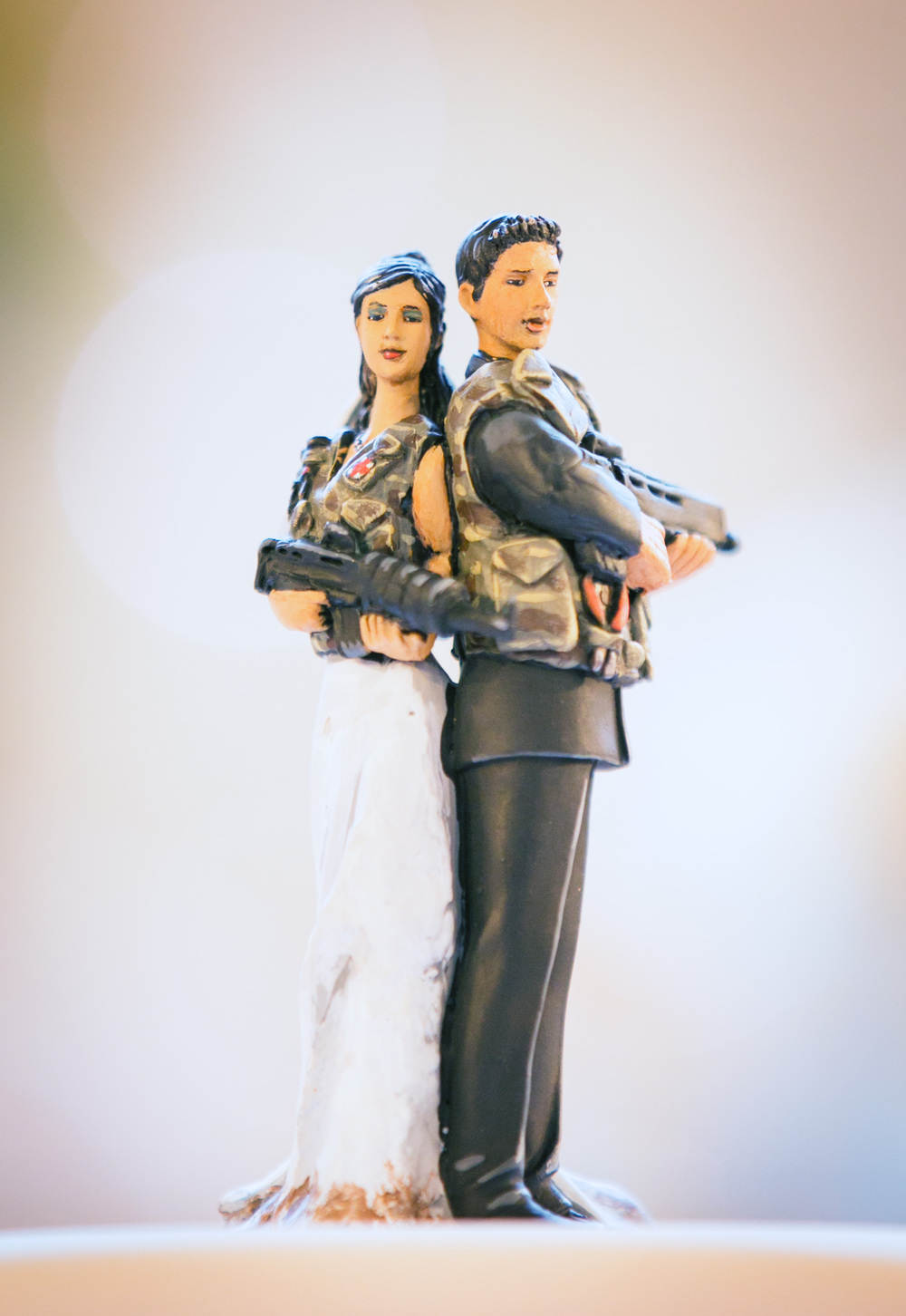 May and Bryan cake toppers