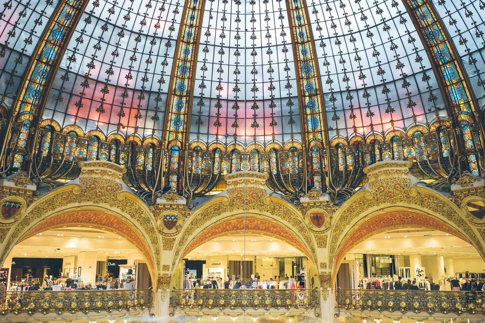 The stunning interior of Galeries Lafayette