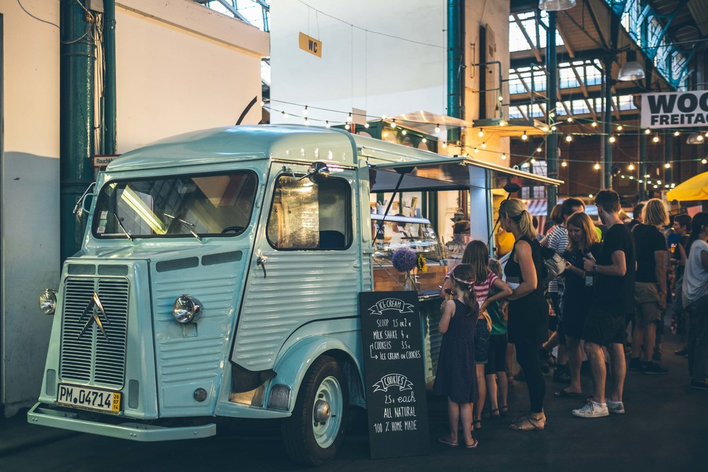 Coolest ice-cream truck ever at Markethall Nine's Street Food Thursday