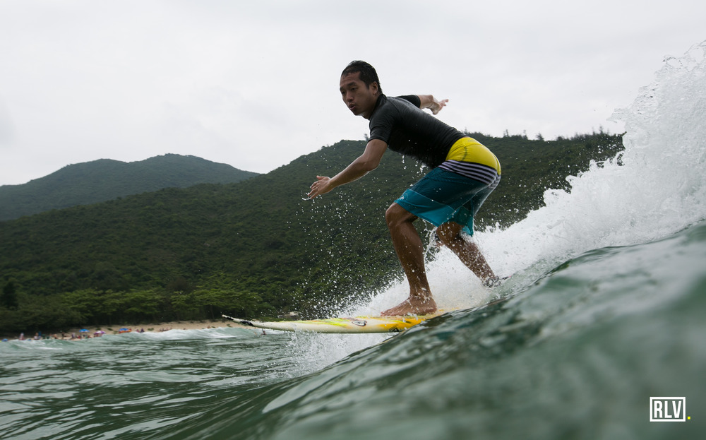 Big wave bay, Hong Kong - Although the waves were small that day, everyone made the most of it