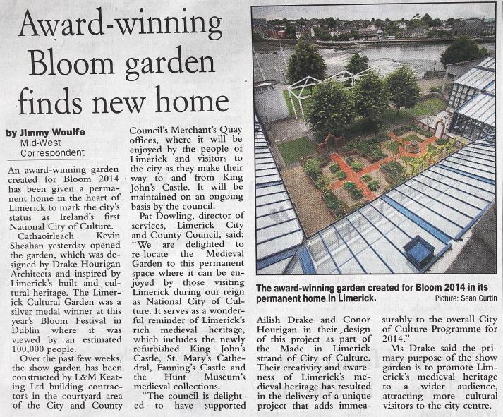Irish Examiner, 27th August, 2014