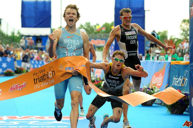 Iconic image of Simon winning Hy-Vee in 2010