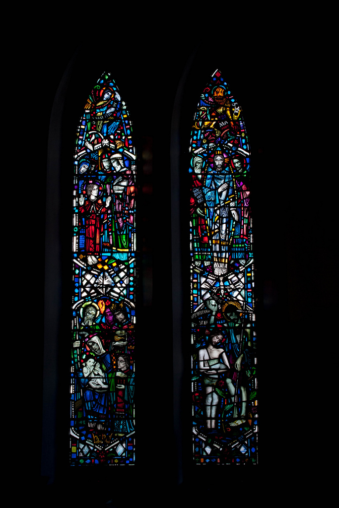 Matthew & Mark Windows, St John's and King's Park Church, Dalkeith (William Wilson, 1939). Photo: Gordon Watt