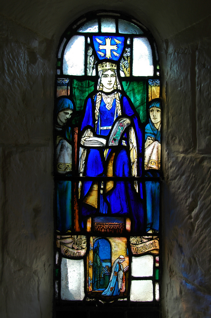 Stained Glass Image of the Day: St Margaret, Edinburgh Castle (Douglas Strachan, 1922) Photo: Aaron G. Stock
