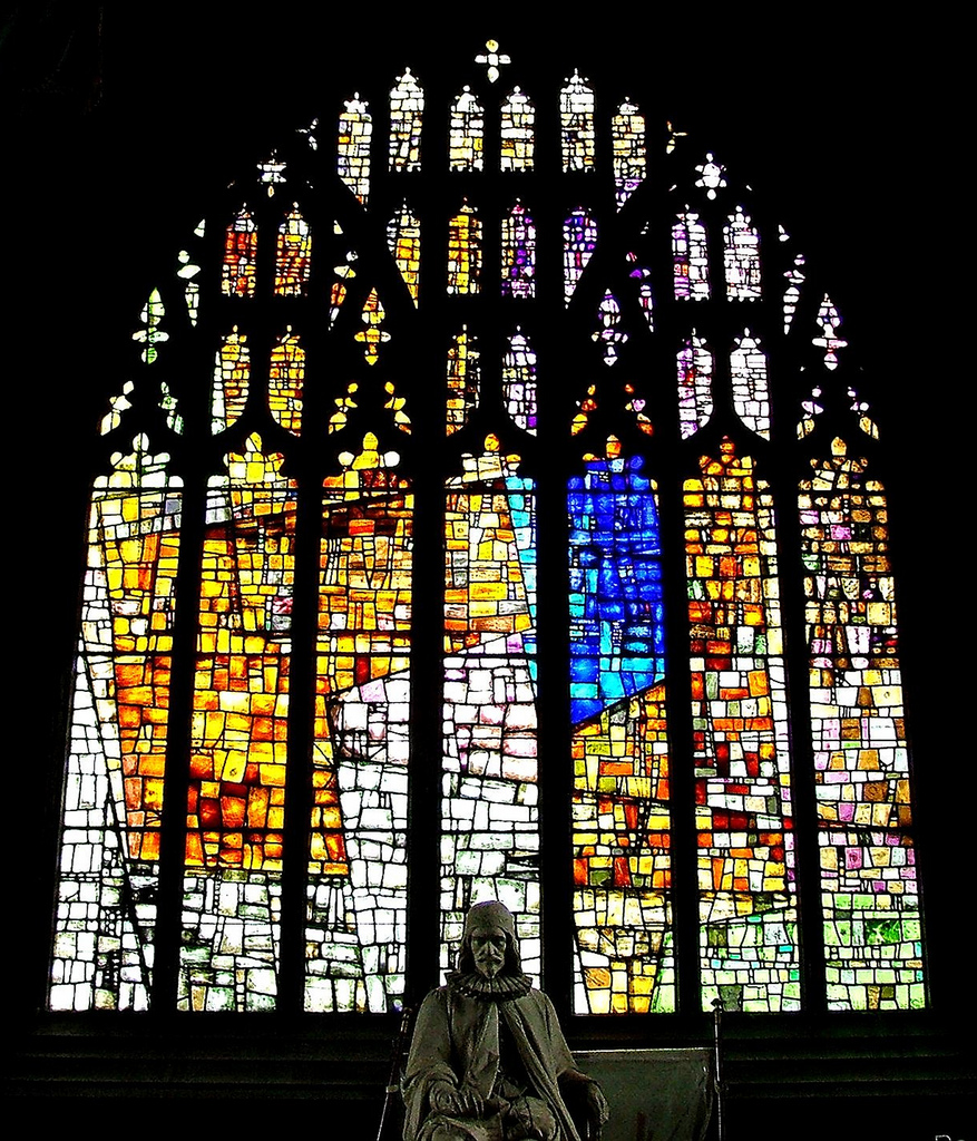 Revelation Window, Manchester Cathedral (Tony Holloway, 1995). Photo:  Andy Read