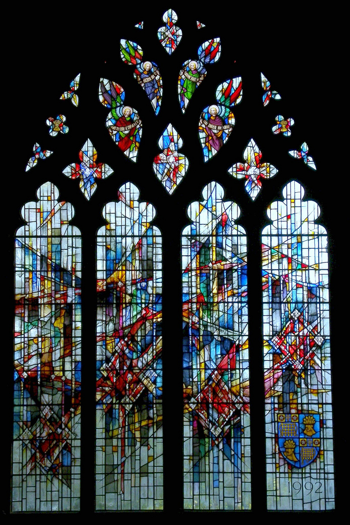 Westminster Window, Chester Cathedral - Alan Younger (1992) (Photo: Robin Croft)