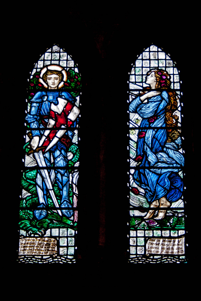 Boyd Wilson Memorial Window, Dunblane Cathedral (Louis Comfort, 1917). Photo: Gordon Watt