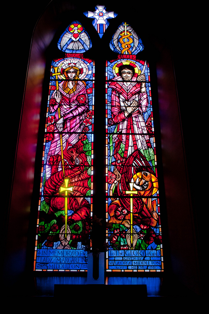 Middleton Memorial Window, Glenmuick Parish Church, Ballater. (Photo: Gordon Watt)