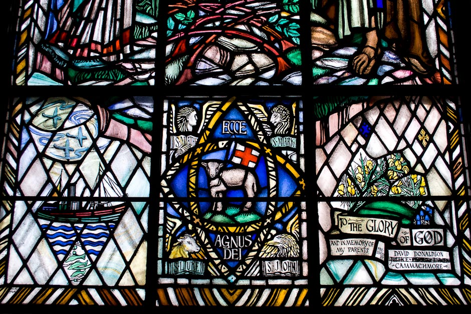 East Window (Detail), Portlethen Kirk (Chilton & Bell, 1940). Photo: Gordon Watt