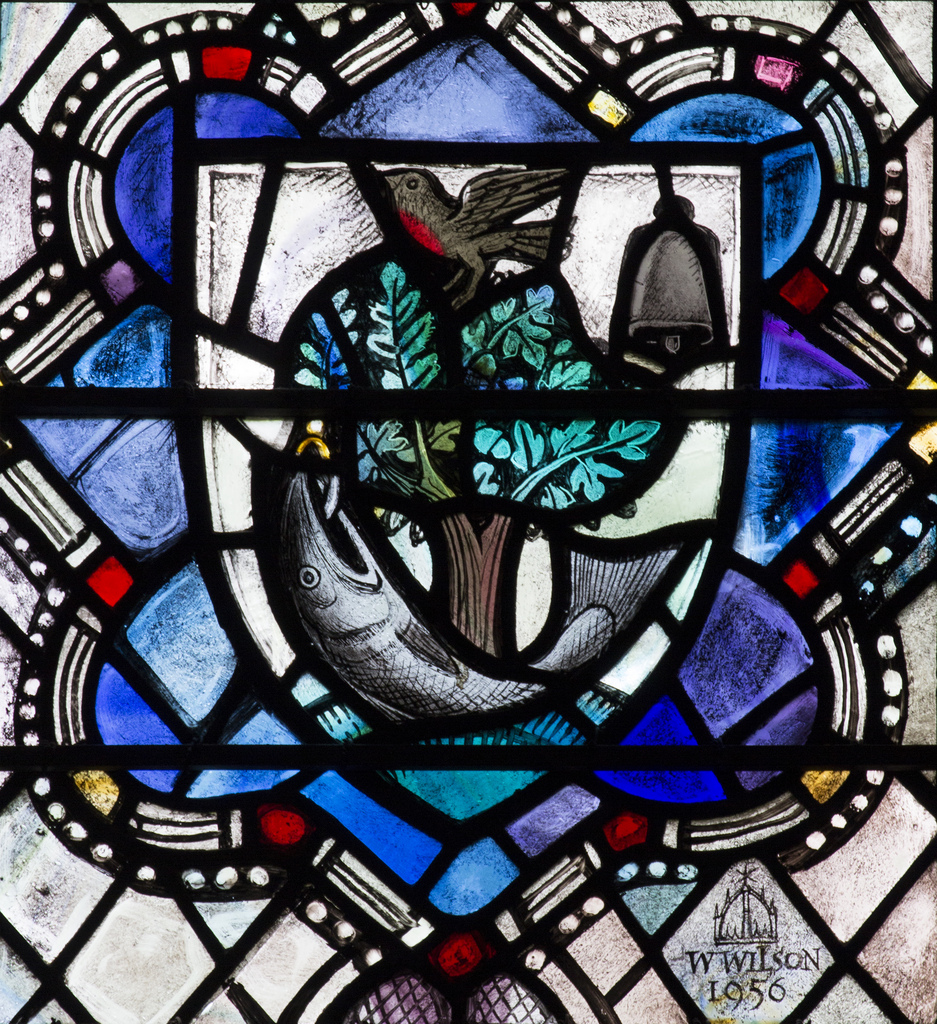 Glasgow Coat of Arms, Glasgow Cathedral (Detail) - William Wilson, 1956. Photo: Fr Lawrence Lew, O.P.