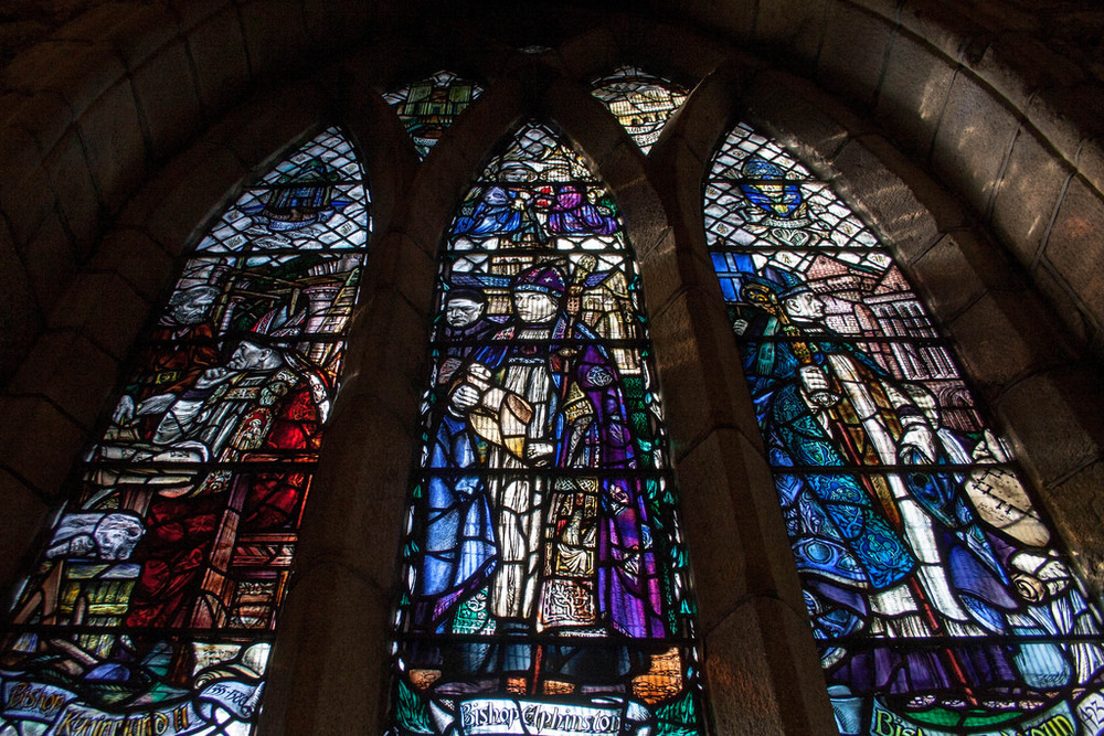 """The Bishop's Window"" - Douglas Strachan, showing the founding Bishops of the Cathedral."