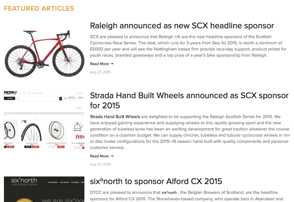 Scottish Cyclocross News Page