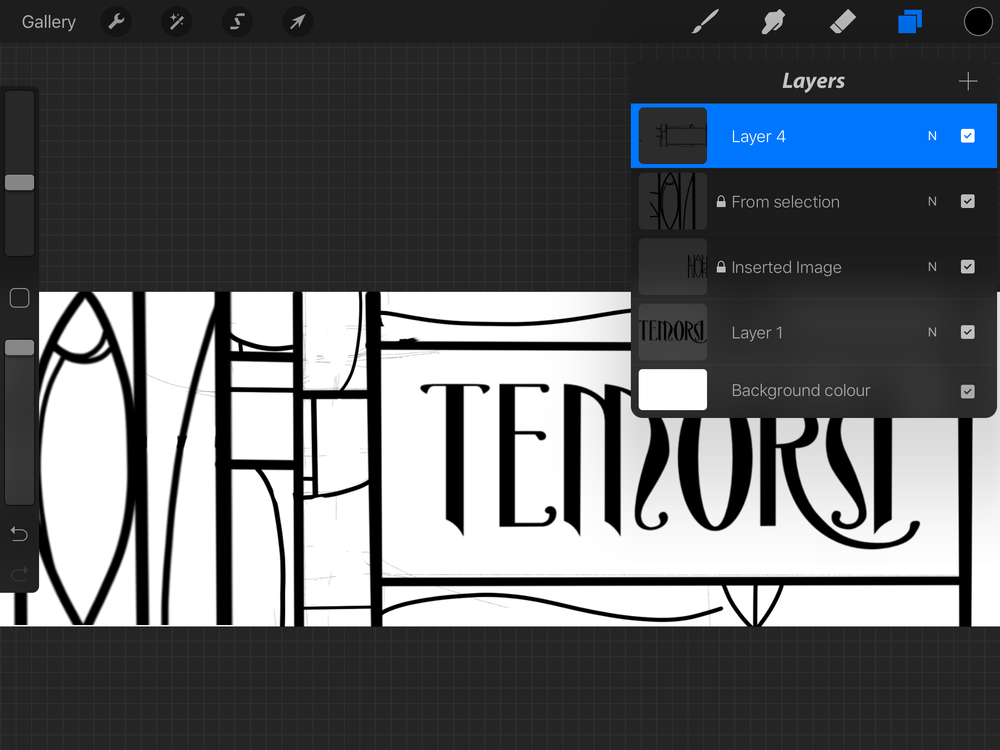 Layers menu on Procreate, showing a number of inserted files plus sketches.