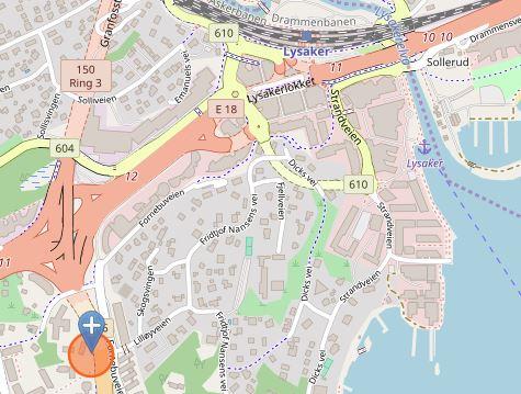 Fornebuveien 33 kart:© OpenStreetMap-bidragsyterene