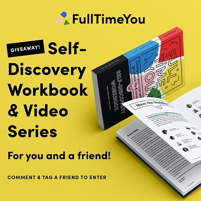 🌈 GIVEAWAY!!! Our @darngooood's latest project @fulltimeyou is out! To celebrate we're giving away 2 copies — a copy for you and a copy for a friend —. To enter, comment below and tag a friend you'd like to do the workbook with! We'll choose a winner next Monday 6/18 on our stories. You may live anywhere in the world! Head to fulltimeyou.co for more details on the workbook or click the link in our profile.