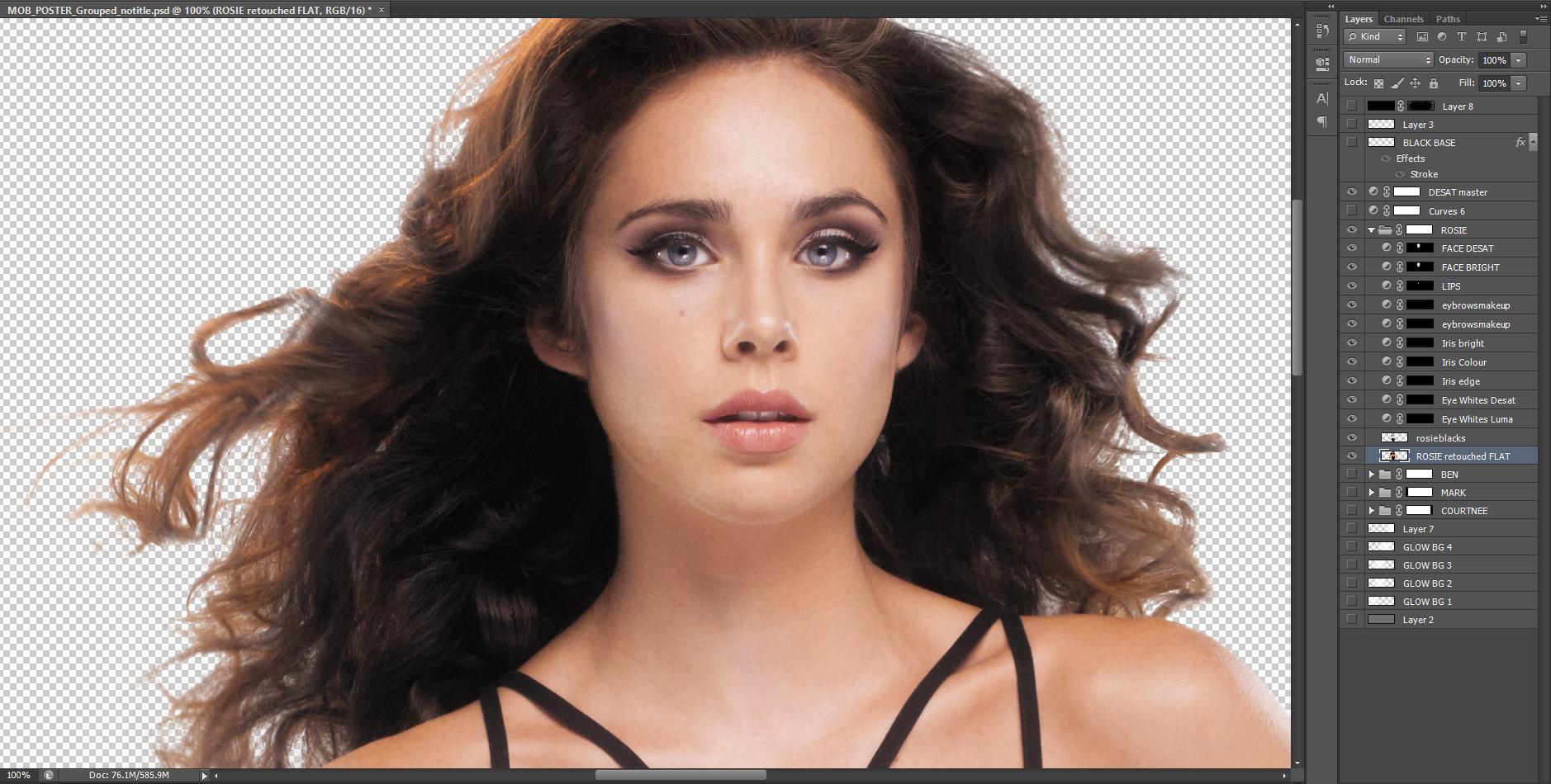 Elegant Change Hair Color In Photoshop