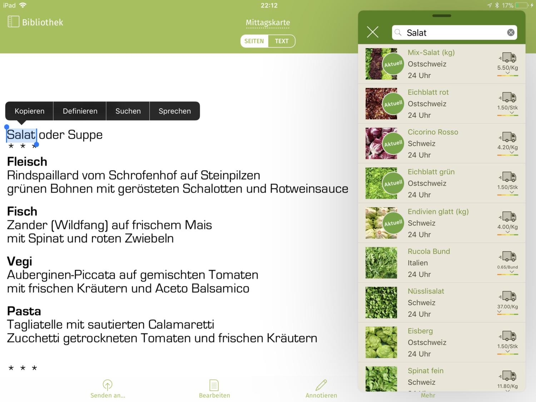 Bestellung ab Vorlage — Gemüsezentrale Tägerwilen