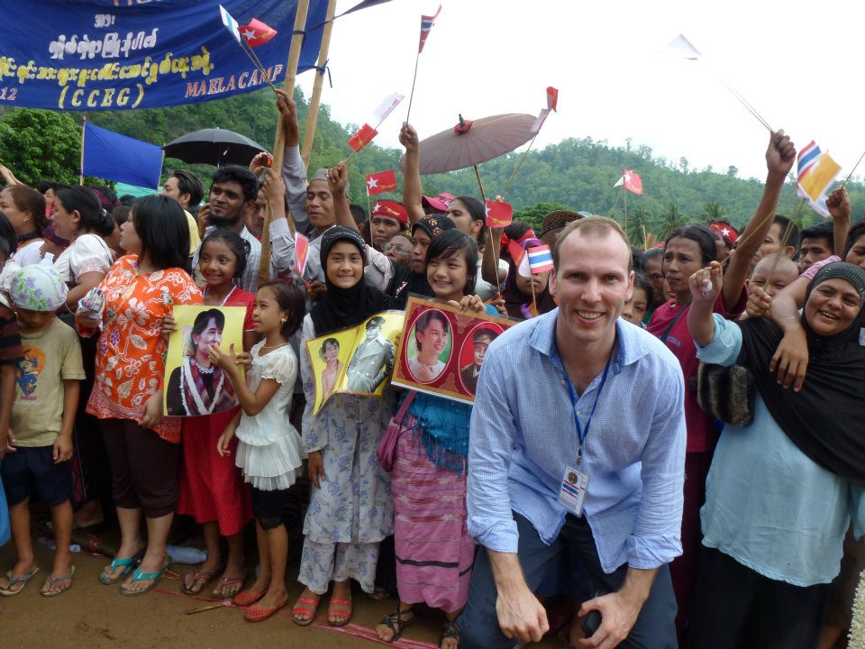 Johan Trip at Mae La camp during the visit of Aung San Suu kyi